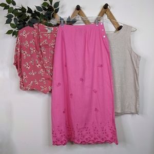 6-Piece Cottagecore Bundle - Skirt + Two Tops